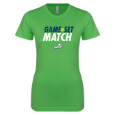 Next Level Ladies SoftStyle Junior Fitted Kelly Green Tee-Game Set Match Tennis