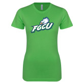Next Level Ladies SoftStyle Junior Fitted Kelly Green Tee-Primary Athletic Mark