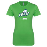 Next Level Ladies SoftStyle Junior Fitted Kelly Green Tee-Tennis