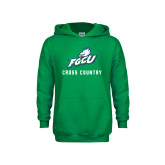 Youth Kelly Green Fleece Hoodie-Cross Country