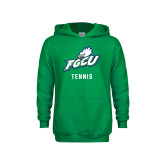 Youth Kelly Green Fleece Hoodie-Tennis