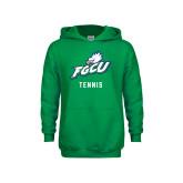 Youth Kelly Green Fleece Hoodie-Tennis