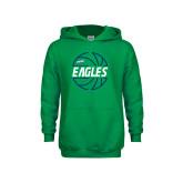 Youth Kelly Green Fleece Hoodie-Basketball in Ball