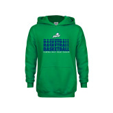 Youth Kelly Green Fleece Hoodie-Basketball Triple Stacked