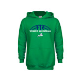 Youth Kelly Green Fleece Hoodie-Basketball Half Ball