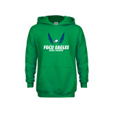 Youth Kelly Green Fleece Hoodie-Cross Country Wings