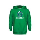 Youth Kelly Green Fleece Hoodie-Soccer Ball Design