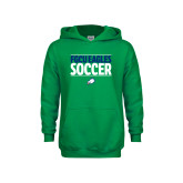 Youth Kelly Green Fleece Hoodie-Stacked Soccer