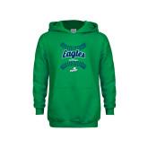 Youth Kelly Green Fleece Hoodie-Softball Seams