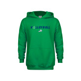 Youth Kelly Green Fleece Hoodie-Volleyball w/ Ball