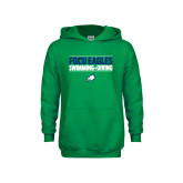 Youth Kelly Green Fleece Hoodie-Swimming and Diving Stacked