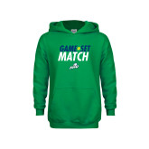 Youth Kelly Green Fleece Hoodie-Game Set Match Tennis