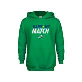 Youth Kelly Green Fleece Hoodie-Game Set Match Tennis