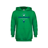 Youth Kelly Green Fleece Hoodie-Lacrosse Abstract Stick