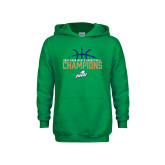 Youth Kelly Green Fleece Hoodie-2016 Atlantic Sun Conference Champions Mens Basketball