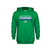 Youth Kelly Green Fleece Hood-Regular Season Champions 2017 Mens Basketball Bar Design