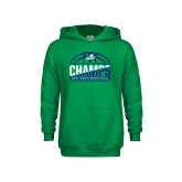 Youth Kelly Green Fleece Hood-Regular Season Champions 2017 Mens Basketball Half Ball Design