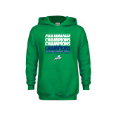 Youth Kelly Green Fleece Hood-Regular Season Champions 2017 Mens Basketball Champions Repeating