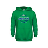 Youth Kelly Green Fleece Hoodie-ASUN Champions 2017 Mens Basketball