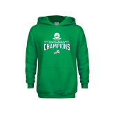 Youth Kelly Green Fleece Hoodie-2018 Womens Basketball Champions