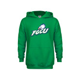 Youth Kelly Green Fleece Hoodie-Primary Athletic Mark