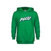 Youth Kelly Green Fleece Hoodie-FGCU
