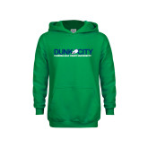 Youth Kelly Green Fleece Hoodie-Dunk City Official Logo