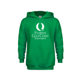 Youth Kelly Green Fleece Hoodie-University Mark Stacked