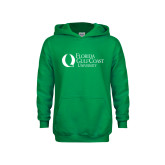 Youth Kelly Green Fleece Hoodie-University Mark Flat