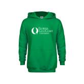 Youth Kelly Green Fleece Hoodie-University Mark Flat