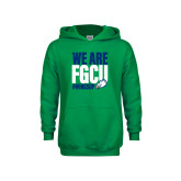 Youth Kelly Green Fleece Hoodie-We Are FGCU