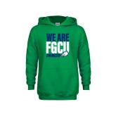 Youth Kelly Green Fleece Hoodie-We Are FGCU