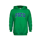 Youth Kelly Green Fleece Hoodie-Arched FGCU