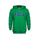 Youth Kelly Green Fleece Hoodie-Arched FGCU
