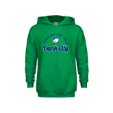 Youth Kelly Green Fleece Hoodie-Dunk City Script