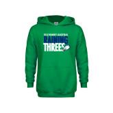 Youth Kelly Green Fleece Hoodie-Raining Threes