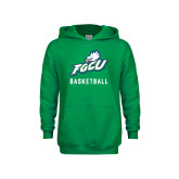 Youth Kelly Green Fleece Hoodie-Basketball