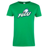 Ladies Kelly Green T Shirt-Primary Athletic Mark Distressed