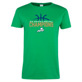 Ladies Kelly Green T Shirt-2016 Atlantic Sun Conference Champions Mens Basketball
