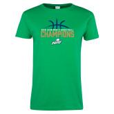 Ladies Kelly Green T Shirt-2016 Atlantic Sun Conference Champions Mens Basketball