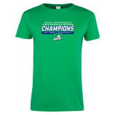 Ladies Kelly Green T Shirt-Regular Season Champions 2017 Mens Basketball Bar Design