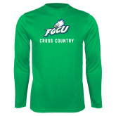 Syntrel Performance Kelly Green Longsleeve Shirt-Cross Country