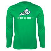 Performance Kelly Green Longsleeve Shirt-Cross Country
