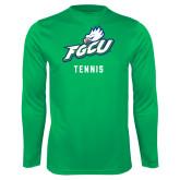 Performance Kelly Green Longsleeve Shirt-Tennis