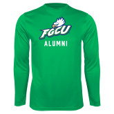 Performance Kelly Green Longsleeve Shirt-Alumni