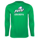 Performance Kelly Green Longsleeve Shirt-Grandpa