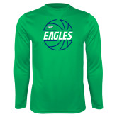 Syntrel Performance Kelly Green Longsleeve Shirt-Basketball in Ball