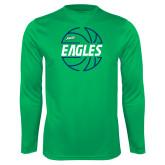 Performance Kelly Green Longsleeve Shirt-Basketball in Ball