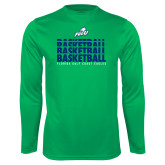 Syntrel Performance Kelly Green Longsleeve Shirt-Basketball Triple Stacked
