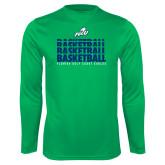 Performance Kelly Green Longsleeve Shirt-Basketball Triple Stacked